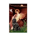 Angel & Newfoundland Sticker (Rectangle)