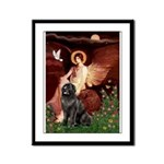 Angel & Newfoundland Framed Panel Print