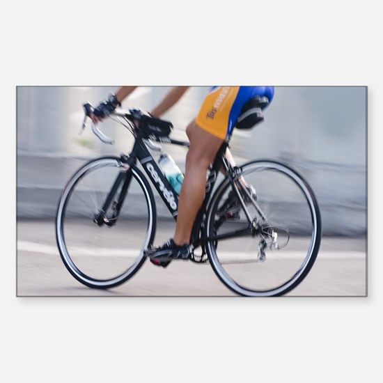Cyclist Rectangle Decal