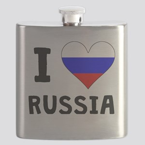I Heart Russia Flask