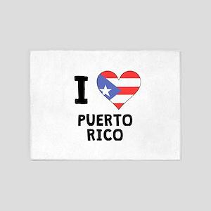 I Heart Puerto Rico 5'x7'Area Rug