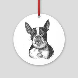 Boston Terrier Ornament (Round)