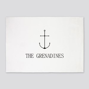 The Grenadines Sailing Anchor 5'x7'Area Rug