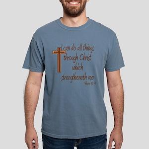 Philippians 4 13 Brown Cross T-Shirt