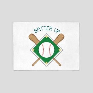 Baseball Batter 5'x7'Area Rug