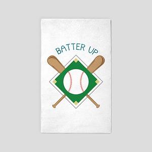 Baseball Batter Area Rug