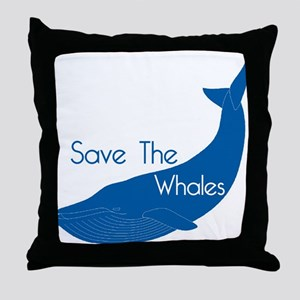 Save The Whales Blue Whale cause Throw Pillow