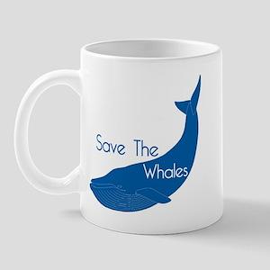 Save The Whales Blue Whale cause Mug