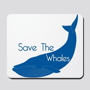 Save The Whales Blue Whale cause Mousepad