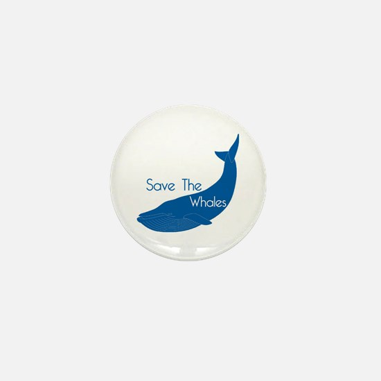 Save The Whales Blue Whale cause Mini Button