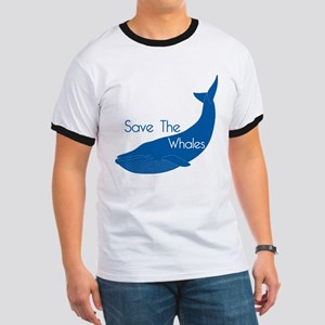 Save The Whales Blue Whale cause Ringer T