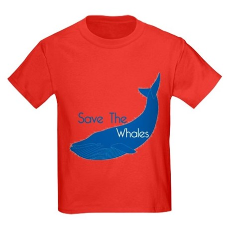 Save The Whales Blue Whale cause Kids Dark T-Shirt