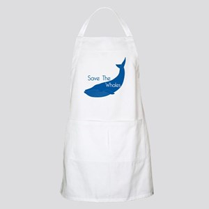 Save The Whales Blue Whale cause BBQ Apron