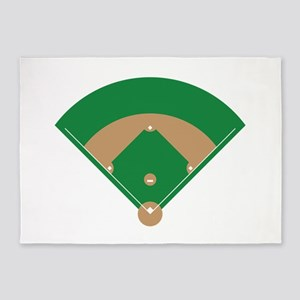 Baseball Field 5'x7'Area Rug