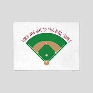 Baseball Game 5'x7'Area Rug