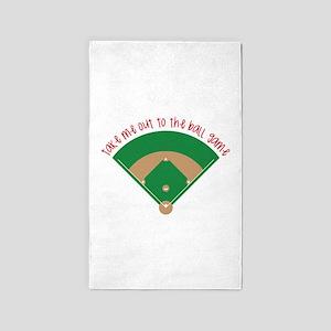 Baseball Game Area Rug