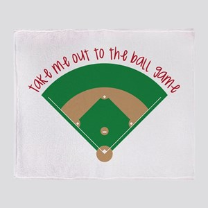 Baseball Game Throw Blanket