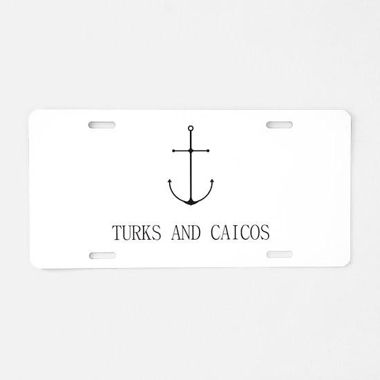 Turks and Caicos Sailing Anchor Aluminum License P