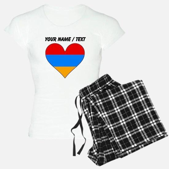 Custom Armenia Flag Heart Pajamas