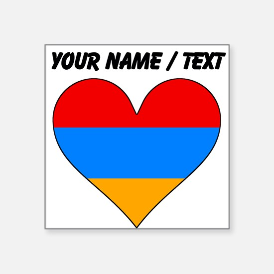 Custom Armenia Flag Heart Sticker