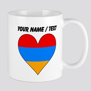 Custom Armenia Flag Heart Mugs