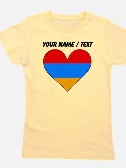Custom Armenia Flag Heart Girl's Tee
