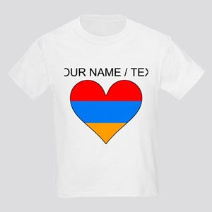 Custom Armenia Flag Heart T-Shirt