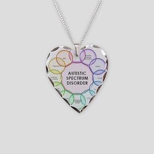 Autism Necklace Heart Charm