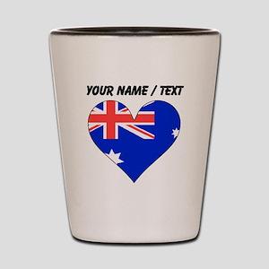 Custom Australia Flag Heart Shot Glass