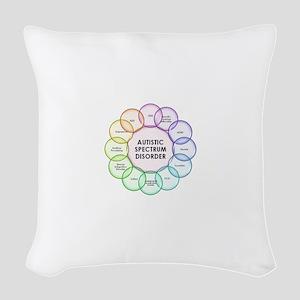 Autism Woven Throw Pillow