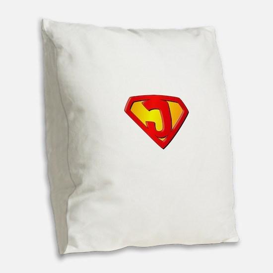 Super Jesus Burlap Throw Pillow