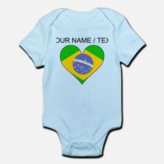Custom Brazil Flag Heart Body Suit