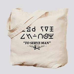 To Serve Man Cookbook Twilight Zone Tote Bag