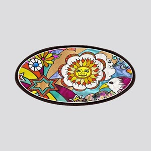 Psychedelic Sunshine Art Patches