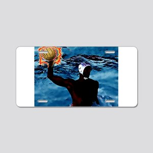 Waterpolo Man Aluminum License Plate