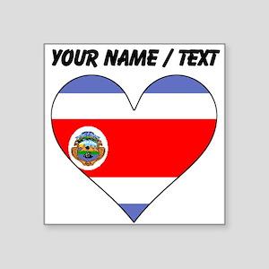 Custom Costa Rica Flag Heart Sticker