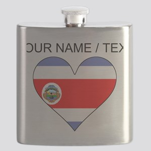 Custom Costa Rica Flag Heart Flask