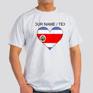 Custom Costa Rica Flag Heart T-Shirt