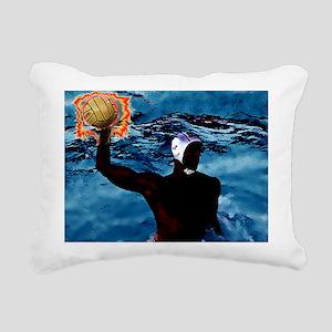 waterpolo man 2 Rectangular Canvas Pillow