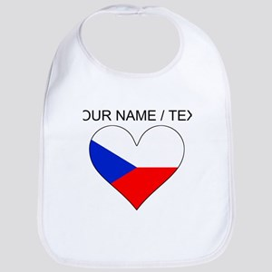 Custom Czech Republic Flag Heart Bib