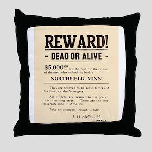 Northfield Bank Robbery Throw Pillow