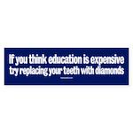 Education bumpersticker