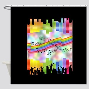 Colorful Musical Theme Shower Curtain
