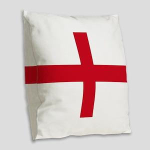 St George Cross Burlap Throw Pillow