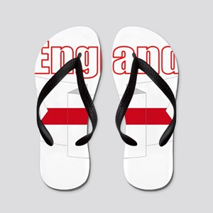 English Flag Ribbon - St George Cross Flip Flops