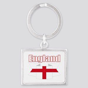 English Flag Ribbon - St George Cross Keychains