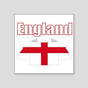 English Flag Ribbon - St George Cross Sticker