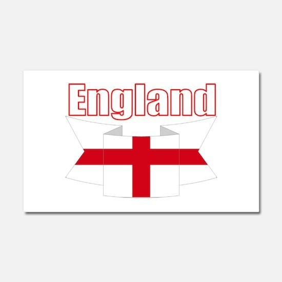 English Flag Ribbon - St George Cross Car Magnet 2