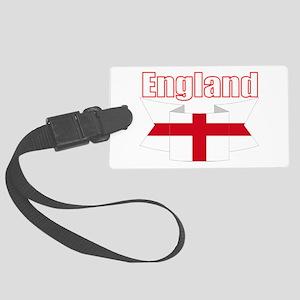 English Flag Ribbon - St George Large Luggage Tag