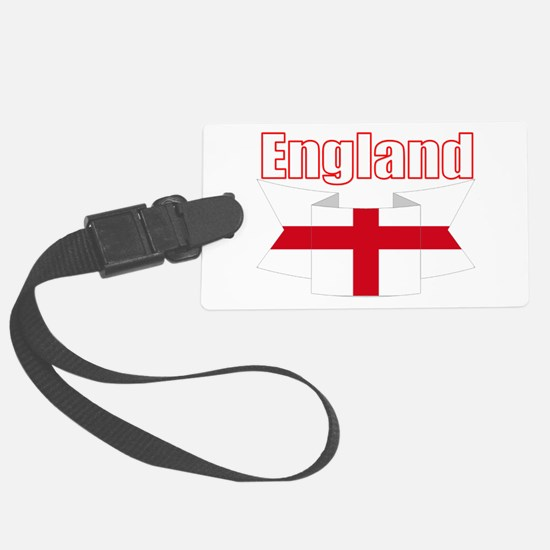 English Flag Ribbon - St George Luggage Tag